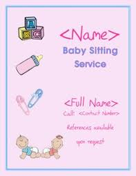 Babysitting Flyer Template Microsoft Word Free 11 Best Babysitting Flyers Images Babysitting Flyers