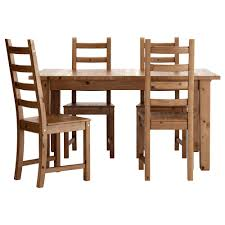 kaustby stornäs table and 4 chairs antique stain pe s5