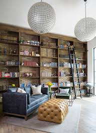 Home office wall shelving Floating Home Office Under The Mezzanine Level View In Gallery Brick Wall Decoist 25 Home Office Shelving Ideas For An Efficient Organized Workspace
