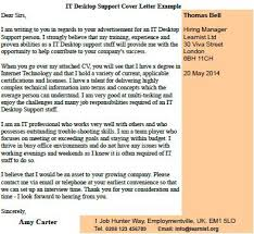 view more cover letter examples cover letter for it support