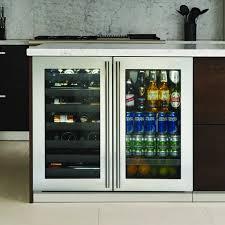 Undercounter Beverage Refrigerator Glass Door Kitchen Marvelous Dual Zone Beverage Center With 12 Wine Bottle