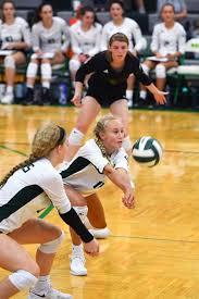 Lily Dudley passes the ball during the Rock Bridge versus Hermann ...