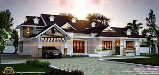 european style bungalow house plans beautiful july 2016 kerala home design and floor plans