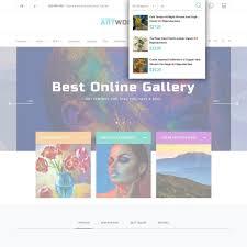 art portfolio template artworker online gallery artist portfolio prestashop addons