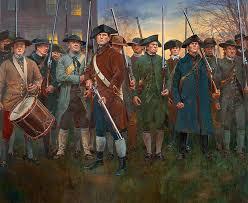 shot heard round the world start of american revolution  troiani lexington green