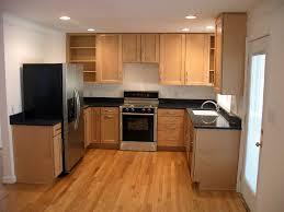 Small Dark Kitchen Design Magnificent Small Kitchen Design With White Cabinet And Wooden