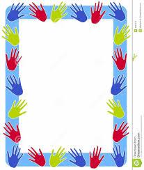 colorful frame border design. Modren Frame Charming Colourful Border Designs  Hand Prints Frame  Stock Images Image Garden Intended Colorful Design