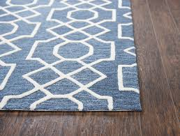 rizzy home idyllic id883a dark blue geometric area rug contemporary hall and stair runners by plushrugs