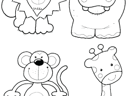 Cute Jungle Animal Coloring Pages Baby Animals Coloring Pages Zoo
