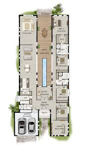 contemporary home designs modern narrow block house designs floor plan four bedrooms simple