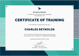Training Templates For Word Training Certificate Templates Word
