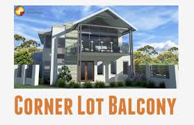 corner lot house plans. Corner Lot Rear Garage Two Storey Exterior Elevation Balcony Home Builders Advantage Perth The Building House Plans 2