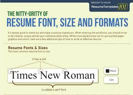 The Perfect Resume Font Size And Formats [INFOGRAPHIC] JobCluster New What Is A Good Font For A Resume