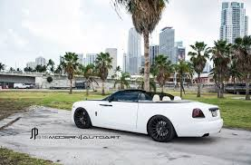 A Classy White Rolls Royce Dawn Gets Adv1 Wheels Black Diamond Mafia