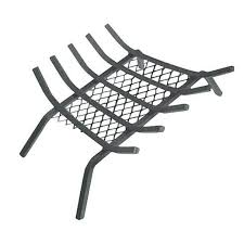 homebasix ltfg w27 fireplace grate with ember retainer 27 black wood