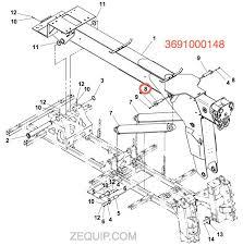 pin weld wrecker boom lift cyl (p Jerr Dan Light Bar Wiring Diagram 3691000148 jerr dan pin diagram Jerr-Dan Parts Manual