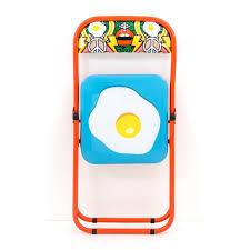 folding metal chair egg