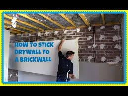 how to direct stick plasterboard over a