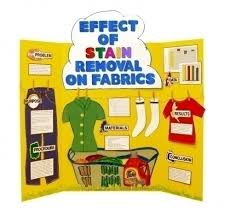 make a science fair project poster ideas stain removal  effects of stain removal on fabrics