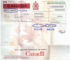 Of Canada For Outside Made Application Guide Permit Study