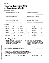 Metric System Capacity Chart Capacity And Weight Conversion