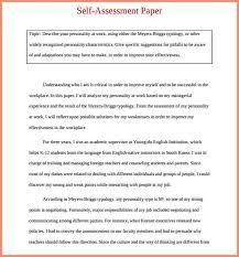 Work Self Evaluation Example