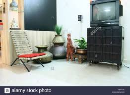 Indian Living Room Interior Of Indian Urban Living Room Cupboard India Stock Photo
