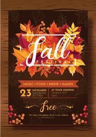 Fall Festival Flier Fall Festival Flyer Vector Design Download Free Vectors