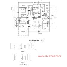 2 bhk 3 bhk autocad drawing samples
