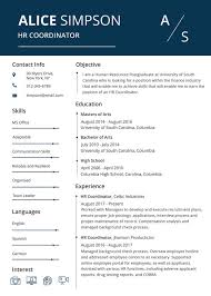Hr Resume Classy HR Resume Format Template 28 Free Word PDF Format Download