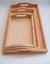Image is loading Wooden-Serving-Tray-with-Handles-Serving-Tea-Breakfast-