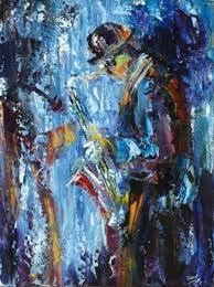 Fran McCann   Blue Sax   MutualArt