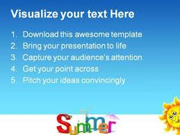 summer holidays powerpoint templates