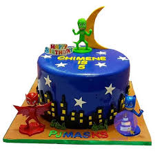 Midnight Blue Pj Masks Fondant Cake Wwworderacakeng