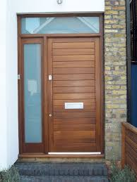 front doors with side panelsContemporary Style Door With Etched Glass Side Panels  External