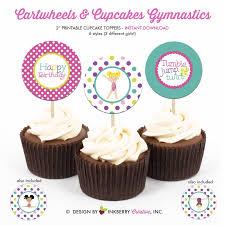Cartwheels And Cupcakes Girls Gymnastics Birthday Party Etsy