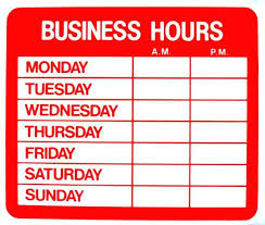 printable store hours sign business hours sign printable template hours of operation etsy