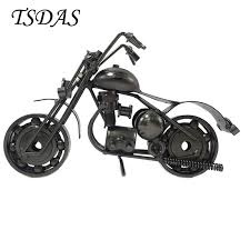 2017 handmade motorcycle models gifts toys collectible luxury black iron motorbike models home decorations