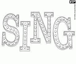 Kleurplaat Originele Logo Van Sing In Het Engels Kleurplaten
