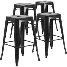 white backless bar stools. Flash Furniture 30 In Metal And Vinyl Crown Back Swivel Bar Stool With Backless Stools Walmart White L
