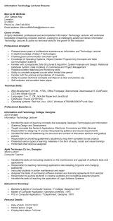 How to write a cv for academic position Adjunct Lecturer In Computer  Science Resume samples