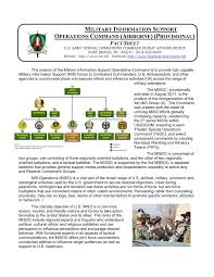 Africom Org Chart Military Information Support Operations Command Airborne