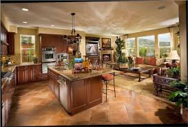 Kitchen Open To Dining Room Kitchen Dining Room Living Room Open Floor Plan Home Design