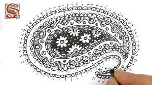 How To Draw Patterns Adorable How To Draw A Paisley Pattern YouTube