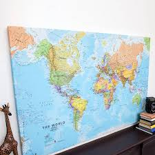 world canvas map print by maps international  notonthehighstreetcom