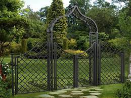 brighton garden arch with gate and side