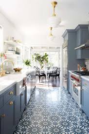 Blue Kitchen Designs New Trends In Kitchen Flooring Instahelp Kitchen