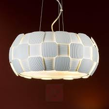 white hanging light quios with a great lampshade 8582223 01