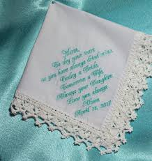 wedding gift for mom from daughter wedding handkerchief gift for mother of the bride gift from the bride personalized hankie custom hanky 18 01 usd
