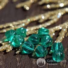 clear green melon glass czech round beads czech glass round beads pumpkin spacer beads small green